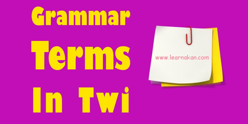 Punctuation Marks In Twi Archives Learn Akan